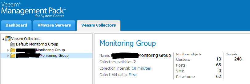 Veeam Monitoring Groups