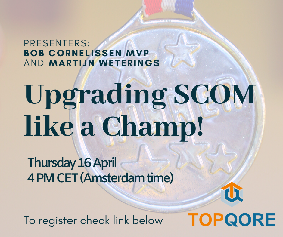 Webinar – How to Upgrade SCOM like a Champ!